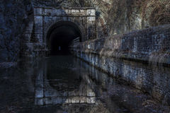 Paw Paw Tunnel in Winter. The Paw Paw Tunnel is located in Oldtown Maryland. The tunnel is over 3000 feet long and is located on the Chesapeake and Ohio Canal stock photos
