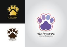 Paw Pet Design Logo illustrazione di stock