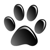 Paw Print. Print black paws on a white background Royalty Free Stock Image