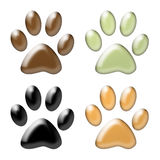 Paw print Stock Photography