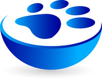 Paw print. Illustration drawing of a paw print with isolated background vector illustration