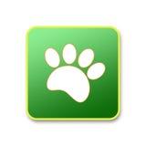 Paw print animal green icon. Royalty Free Stock Photography