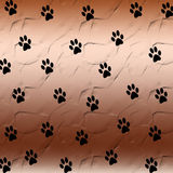 Paw print background Stock Image