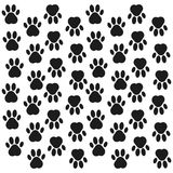 Paw print background. Footprint. Seamless background with footprint of dog, animal. Vector illustration. Paw print background. Footprint. Seamless background Stock Photo