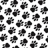 Paw print background. Footprint. Seamless background with footprint of dog, animal. Vector illustration. Paw print background. Footprint. Seamless background Stock Image