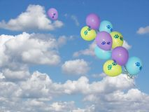 Paw Print Balloons Royalty Free Stock Image