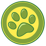 Paw print banner Royalty Free Stock Images
