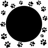 Paw print border Royalty Free Stock Photography