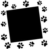 Paw print border (VECTOR) Royalty Free Stock Photos