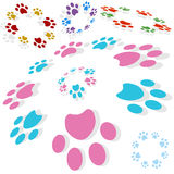 Paw Print Circle. Isolated on a white background Stock Image