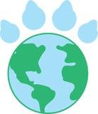 Paw Print Earth Fotografía de archivo libre de regalías