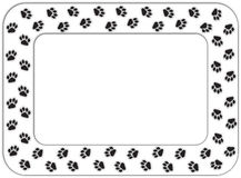 Paw print frame Stock Images