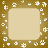 Paw print frame Stock Photography