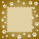 Paw print frame Stock Photo