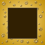 Paw print frame Royalty Free Stock Images