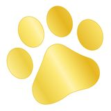 Paw print gold Stock Photos
