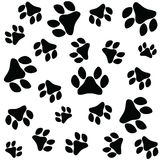 Paw Print Icon Images stock