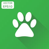 Paw Print Icon Chien de concept d'affaires, chat, picto de symbole de patte d'ours Illustration de Vecteur