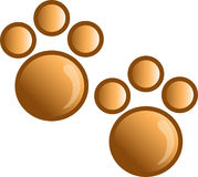Paw print icon or syymbol Royalty Free Stock Photo
