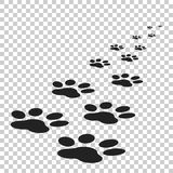Paw print icon vector illustration isolated on isolated backgrou Stock Photos