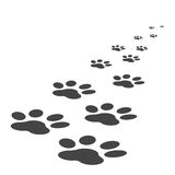 Paw print icon vector illustration isolated on white background Stock Photography