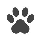 Paw print icon vector illustration isolated on white background Royalty Free Stock Photos