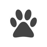 Paw print icon vector illustration isolated on white background. Royalty Free Stock Image
