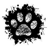 Paw Print-Ink-Background Foto de archivo libre de regalías