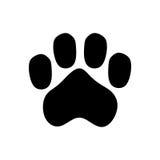 Paw print large dog icon. Royalty Free Stock Photography