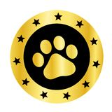 Paw print logo Royalty Free Stock Image