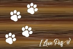 Paw print logo background stock images