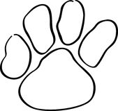 Paw Print Outline Royalty Free Stock Image