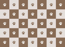 Paw print pattern Stock Photography