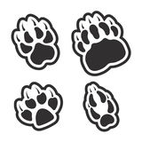Paw print of predators set. On the image presented Paw print of predators set Royalty Free Stock Photos