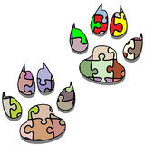 Paw Print-Puzzle Stock Image