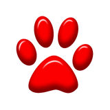 Paw print Royalty Free Stock Photography