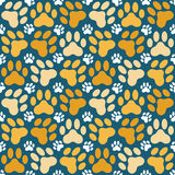 Paw print repeat Stock Photos