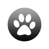 Paw print round icon Stock Images