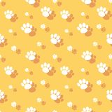 Paw Print Seamless Wildlife Pattern animal Photos stock