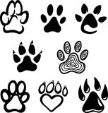 Paw Print Set Royalty Free Stock Photos
