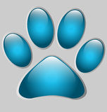 Paw print-shaped presentation/option template Royalty Free Stock Photos