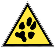 Paw print sign Stock Photos