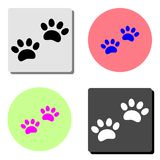 Paw Print. flat vector icon stock illustration