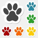 Paw Print Sticker - ejemplo Foto de archivo libre de regalías