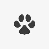 Paw print vector icon Royalty Free Stock Photos
