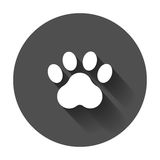 Paw print vector icon. Dog or cat pawprint illustration. Animal Royalty Free Stock Images