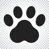 Paw print vector icon. Dog or cat pawprint illustration. Animal. Silhouette. Simple business concept pictogram on isolated background Royalty Free Stock Photography
