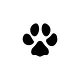 Paw print vector icon Stock Images