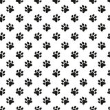 Paw print vector seamless pattern Royalty Free Stock Photos