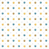 Paw print wallpaper Royalty Free Stock Image